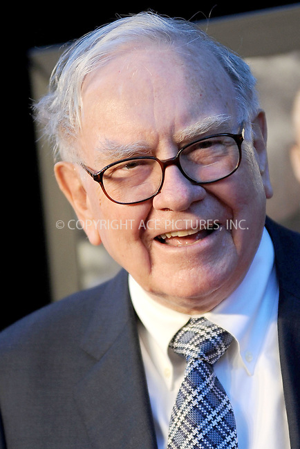 WWW.ACEPIXS.COM . . . . . .September 20, 2010, New York City... Warren Buffett attends the Wall Street: Money Never Sleeps premiere at the Ziegfeld Theatre on September 20, 2010 in New York City.....Please byline: KRISTIN CALLAHAN - ACEPIXS.COM.. . . . . . ..Ace Pictures, Inc: ..tel: (212) 243 8787 or (646) 769 0430..e-mail: info@acepixs.com..web: http://www.acepixs.com