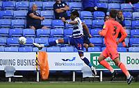 7th July 2020; Madejski Stadium, Reading, Berkshire, England; English Championship Football, Reading versus Huddersfield; Gabriel Osho of Reading is unable to control the pass