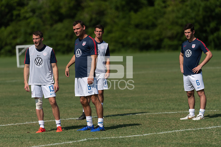 Rome, GA - Friday, June 21, 2019:  Andrew Bremer, Joshua Brunais during a Para 7 USMNT training session.