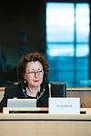 BRUSSELS - BELGIUM - 23 February 2016 -- Exchange of views with Agencies ETF, OSHA, EUROFOUND, CEDEFOP and the Committee on Employment and Social Affairs of the European Parliament. -- Madlen Serban, Director of the European Training Foundation (ETF). -- PHOTO: Juha ROININEN / EUP-IMAGES