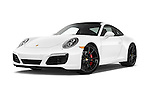 Stock pictures of low aggressive front three quarter view of 2017 Porsche 911 Carrera S 2 Door Coupe Low Aggressive