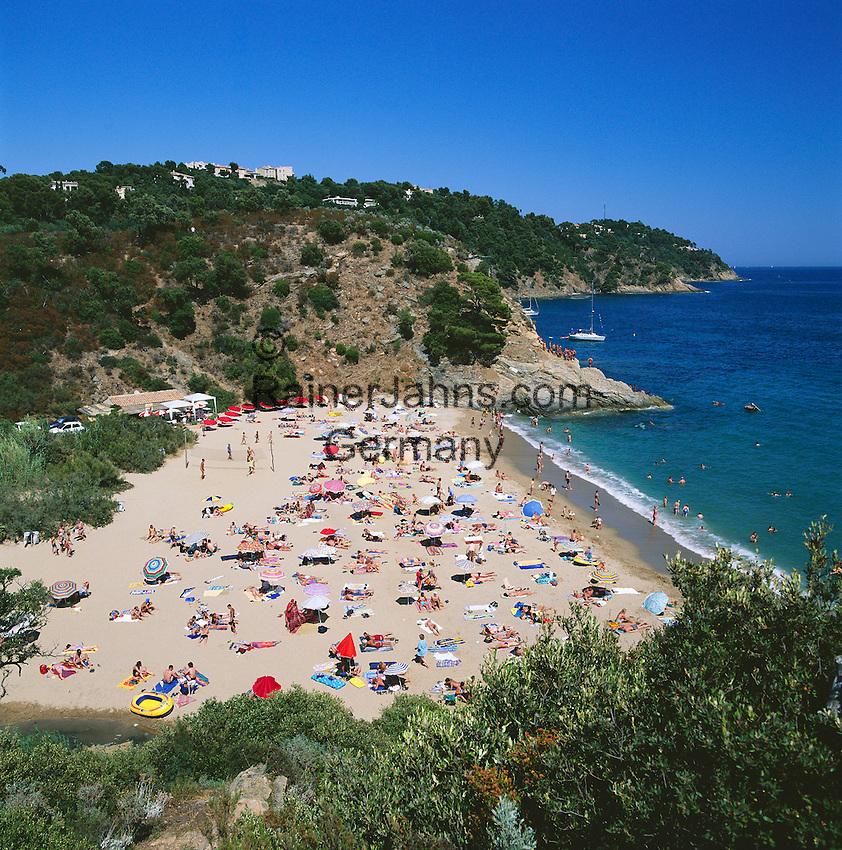France, Côte d'Azur, Cavalaire-sur-mer: Bon Porteau Beach | Frankreich, Côte d'Azur, Cavalaire-sur-mer: Bon Porteau Beach