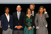 - NO TABLOIDS, NO SITE WEB - Winners Evening of the Prince Pierre of Monaco Foundation at the Opera Garnier, Monaco. H.S.H. Prince Albert II of Monaco and H.R.H. Princess Caroline of Hanover attend the ceremony and Princess Caroline gives two literary prizes : the Literary Prize to Adonis for his whole work and the 'Bourse de la DÈcouverte' to Paul Greveillac for his book 'Les 'mes Rouges'. Rosa Barba, Paul Greveillac, H.S.H. Prince Albert II of Monaco, Catherine Dousteyssier- Khoze, Johannes-Maria Staud, H.R.H. Princess Caroline of Hanover.