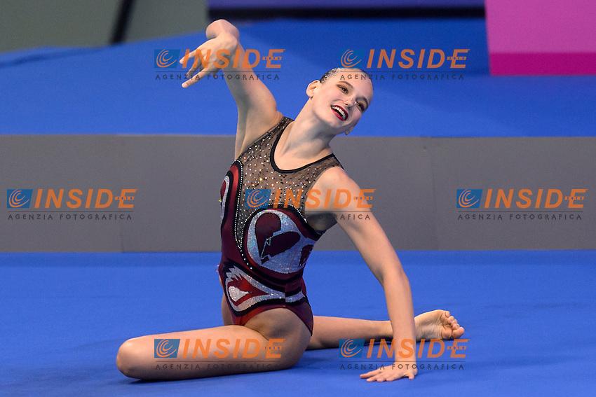 Sascia KRAUS SUI Switzerland <br /> Solo Free Final <br /> London, Queen Elizabeth II Olympic Park Pool <br /> LEN 2016 European Aquatics Elite Championships <br /> Synchronized Swimming <br /> Day 02 10-05-2016<br /> Photo Andrea Staccioli/Deepbluemedia/Insidefoto