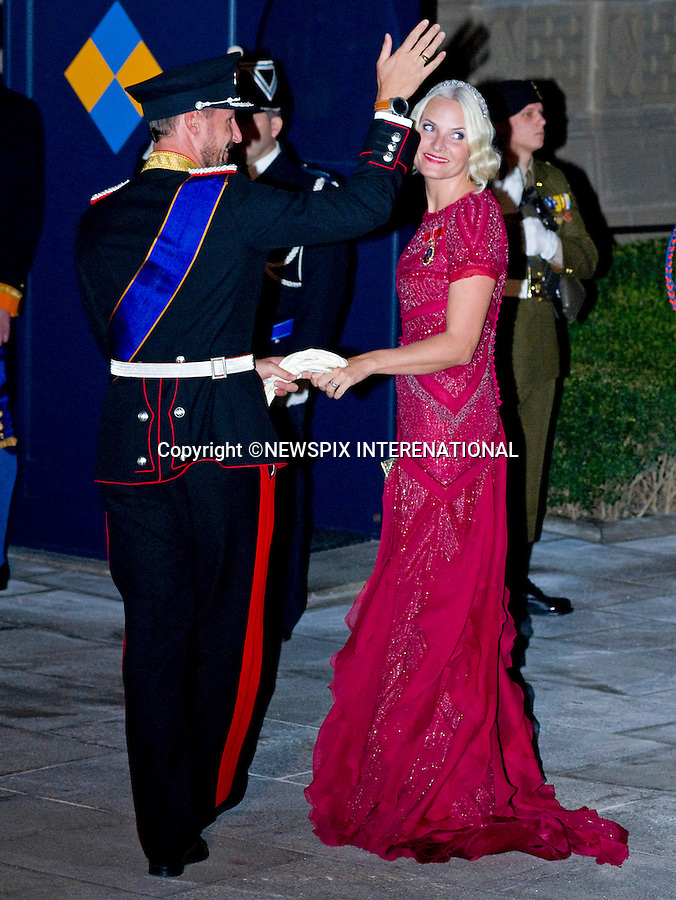 "PRINCE HAAKON AND PRINCESS METTE OF NORWAY.Wedding of HRH the Hereditary Grand Duke and Countess Stéphanie de Lannoy.Gala Dinner at the Grand-Ducal Palace, Luxembourg_19-10-2012.Mandatory credit photo: ©Dias/NEWSPIX INTERNATIONAL..(Failure to credit will incur a surcharge of 100% of reproduction fees)..                **ALL FEES PAYABLE TO: ""NEWSPIX INTERNATIONAL""**..IMMEDIATE CONFIRMATION OF USAGE REQUIRED:.Newspix International, 31 Chinnery Hill, Bishop's Stortford, ENGLAND CM23 3PS.Tel:+441279 324672  ; Fax: +441279656877.Mobile:  07775681153.e-mail: info@newspixinternational.co.uk"