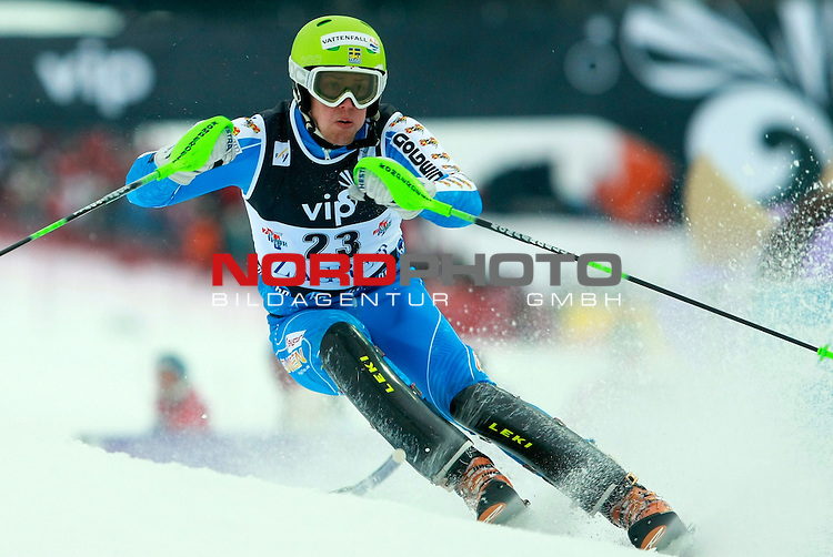 06.01.2011., Sljeme, Zagreb, Croatia - FIS Ski World Cup, Snow Queen Trophy, men slalom race, 1st run.<br /> Axel Baeck.<br />                                                                                                   Foto:   nph / PIXSELL
