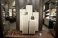 Vetrina del negozio di Salvatore Ferragamo a Firenze.<br /> Salvatore Ferragamo's shop window in Florence.<br /> UPDATE IMAGES PRESS/Riccardo De Luca