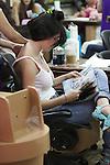 .June 23rd  2012..Brittny Gastineau at nail salon in Beverly Hills..AbilityFilms@yahoo.com.805-427-3519.www.AbilityFilms.com