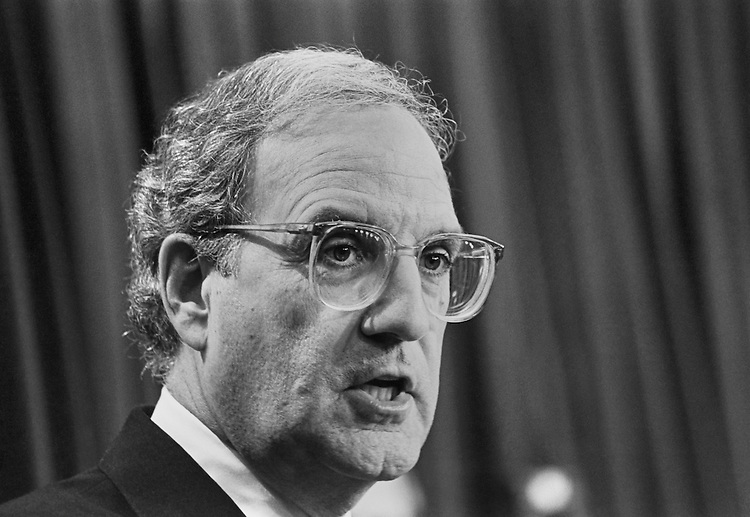 Sen. George John Mitchell, D-Maine. April 29, 1993 (Photo by Maureen Keating/CQ Roll Call)