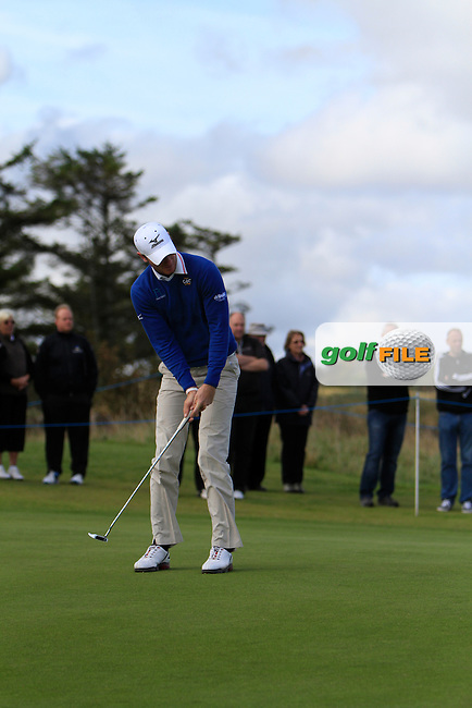 Chris Wood (ENG) during Round 1of the Alfred Dunhill Links Championship at Kingsbarns Golf Club on Thursday 26th September 2013.<br /> Picture:  Thos Caffrey / www.golffile.ie
