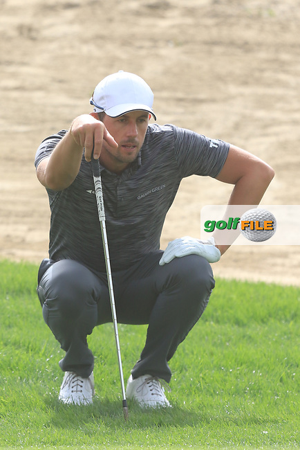 Alexander Bjork (SWE) on the 3rd during Round 1 of the Omega Dubai Desert Classic, Emirates Golf Club, Dubai,  United Arab Emirates. 24/01/2019<br /> Picture: Golffile | Thos Caffrey<br /> <br /> <br /> All photo usage must carry mandatory copyright credit (© Golffile | Thos Caffrey)