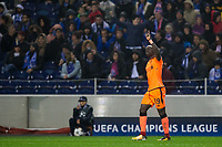 Liverpool's Sadio Mane celebrates after scoring his side's fifth goal and his own hat-trick goal <br /> <br /> Photographer Craig Mercer/CameraSport<br /> <br /> UEFA Champions League Round of 16 First Leg - FC Porto v Liverpool - Wednesday 14th February 201 - Estadio do Dragao - Porto<br />  <br /> World Copyright &copy; 2018 CameraSport. All rights reserved. 43 Linden Ave. Countesthorpe. Leicester. England. LE8 5PG - Tel: +44 (0) 116 277 4147 - admin@camerasport.com - www.camerasport.com