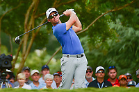 Paul Casey (GBR) watches his tee shot on 11 during Saturday's round 3 of the PGA Championship at the Quail Hollow Club in Charlotte, North Carolina. 8/12/2017.<br /> Picture: Golffile | Ken Murray<br /> <br /> <br /> All photo usage must carry mandatory copyright credit (&copy; Golffile | Ken Murray)