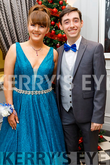 Emily Fitzgerald (Tralee) and Padraig Harrington (Tralee) attending the Mercy Mounthawk Debs in the Ballyroe Heights Hotel on Friday.