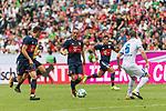 15.07.2017, Borussia Park, Moenchengladbach, GER, TELEKOM CUP 2017 - FC Bayern Muenchen vs TSG 1899 Hoffenheim<br /> <br /> im Bild<br /> Robert Lewandowski (FC Bayern Muenchen #9), Franck Ribery (FC Bayern Muenchen #7), Havard Nortveit (TSG Hoffenheim #6), <br /> <br /> Foto &copy; nordphoto / Ewert