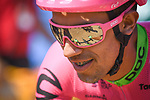 Daniel Felipe Martinez Poveda (COL) EF-Drapac-Cannondale at sign on before the start of Stage 9 of the 2018 Tour de France running 156.5km from Arras Citadelle to Roubaix, France. 15th July 2018. <br /> Picture: ASO/Pauline Ballet | Cyclefile<br /> All photos usage must carry mandatory copyright credit (© Cyclefile | ASO/Pauline Ballet)