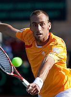 08-07-11, Tennis, South-Afrika, Potchefstroom, Daviscup South-Afrika vs Netherlands, Thomas Schoorel