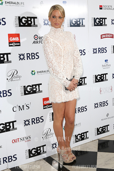 Sarah Harding at The British LGBT Awards at the Grand Connaught Rooms, London.<br /> May 13, 2016  London, UK<br /> Picture: James Smith / Featureflash