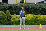 19 April 2008: Duke University football head coach Dave Cutcliffe. The Duke University Blue Devils played their annual Blue White Spring Football Game at Wallace Wade Stadium in Durham, NC.