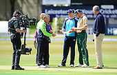 Leicester V Scotland, Clydesdale Bank 40, at Grace Road, Leicester - Live on Sky, Gavin Hamilton and Matthew Hoggard at the toss - Picture by Donald MacLeod 16.05.10 - mobile 07702 319 738
