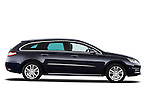Passenger side profile view of 2012 Peugeot 508 SW Allure Wagon Stock Photo