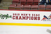 The Harvard University Crimson defeated the Dartmouth College Big Green 5-2 to sweep their weekend series on Sunday, November 1, 2015, at Bright-Landry Hockey Center in Boston, Massachusetts. -