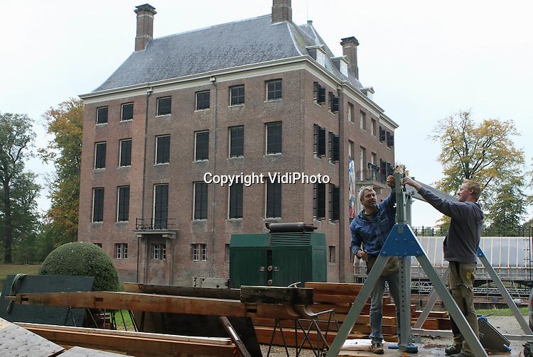 restauratie kasteel amerongen bijna klaar vidiphoto. Black Bedroom Furniture Sets. Home Design Ideas