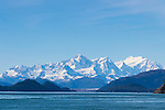 The Fairweather Mountains as seen from the Inian Islands in Alaska's, Inside Passage, Alaska, USA