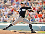 8 March 2011: New York Yankees' pitcher David Robertson on the mound during a Spring Training game against the Atlanta Braves at Champion Park in Orlando, Florida. The Yankees edged out the Braves 5-4 in Grapefruit League action. Mandatory Credit: Ed Wolfstein Photo