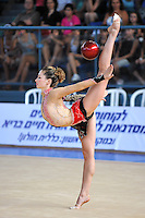 Irina Risenzon of Israel performs with ball at 2010 Holon Grand Prix at Holon, Israel on September 3, 2010.  (Photo by Tom Theobald).