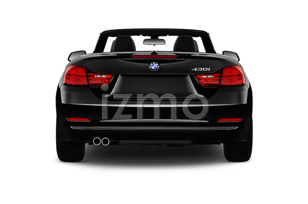 Straight rear view of 2017 BMW 4-Series 430i 2 Door Convertible Rear View  stock images