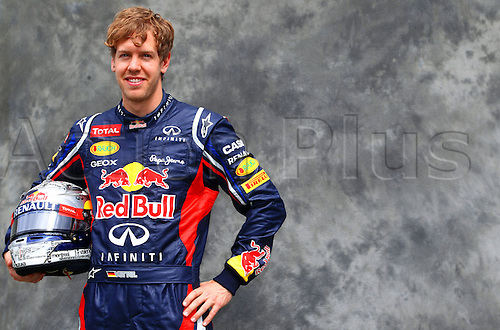 15.03.2012. Melbourne, Australia.  German Formula One driver Sebastian Vettel of Red Bull during the photo session at the paddock before the Australian Formula 1 Grand Prix at the Albert Park circuit in Melbourne, Australia, 15 March 2012. The Formula One Grand Prix of Australia will take place on 18 March 2012.