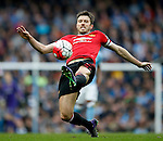 Michael Carrick of Manchester United during the Barclays Premier League match at The Etihad Stadium. Photo credit should read: Simon Bellis/Sportimage