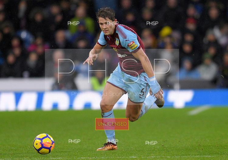 01/01/2018 Premier League Burnley v Liverpool<br /> <br /> James Tarkowski