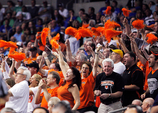 Princeton fans cheer as they take the lead in the first half UK's first round NCAA tournament game against Princeton at the St. Pete Times Forum in Tampa, Florida on Thursday, March 17, 2011.  Photo by Britney McIntosh | Staff