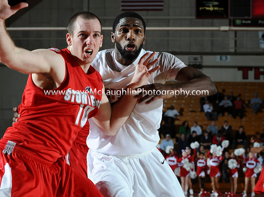 Uhart vs Stonybrook Ameriaca East Basketball action for the Chase Family Arena on the campus of the University of Hartford.
