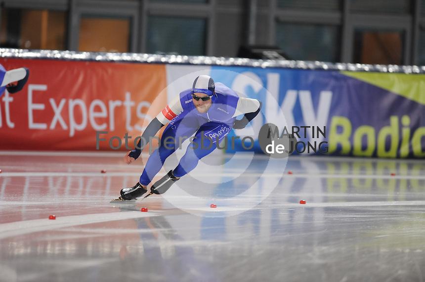SCHAATSEN: AMSTERDAM: Olympisch Stadion, 28-02-2014, KPN NK Sprint/Allround, Coolste Baan van Nederland, Lieuwe Mulder, ©foto Martin de Jong