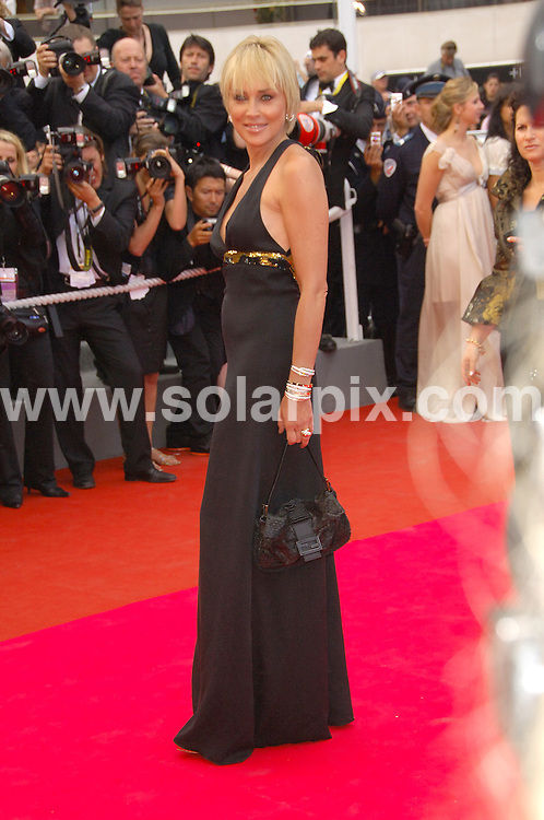 **ALL ROUND PICTURES FROM SOLARPIX.COM**.**WORLDWIDE SYNDICATION RIGHTS**.guests arrive for the premiere of 'Che' at the 61st Cannes Film Festival, Cannes, France. 21st May 2008..This pic: Sharon Stone..JOB REF: 6483 MSR    DATE: 21_05_2008.**MUST CREDIT SOLARPIX.COM OR DOUBLE FEE WILL BE CHARGED* *UNDER NO CIRCUMSTANCES IS THIS IMAGE TO BE REPRODUCED FOR ANY ONLINE EDITION WITHOUT PRIOR PERMISSION*