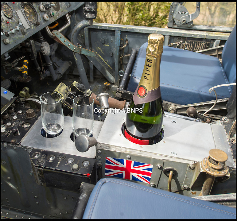 BNPS.co.uk (01202 558833)<br /> Pic: PhilYeomans/BNPS<br /> <br /> Sip Champagne whilst playing in the cockpit...<br /> <br /> Ultimate Heli-pad for a holiday - Campsite owner Stewart Dungey is hoping his new venture takes off - after turning a decommissioned Royal Navy helicopter into a unique holiday let.<br /> <br /> Stewart has spent &pound;30,000 buying, transporting and converting a Cold War Westland Wessex chopper on his farm on the Isle of Wight<br /> <br /> With an Airstream caravan kitchen annex one side and a bedroom pod on the other the chopper now provides luxury accomodation for adventurous families.