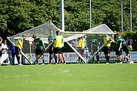 HAREN - Voetbal, Eerste Training FC Groningen  sportpark de Koepel, 01-07-2017,  Even een doel verplaatsen voor partijtje