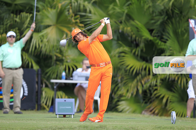 Rickie Fowler (USA) tees off on the 8th tee during Sunday's Final Round of the WGC Cadillac Championship at TPC Blue Monster, Doral Golf Resort & Spa, Miami Florida, 11th March 2012 (Photo Eoin Clarke/www.golffile.ie)