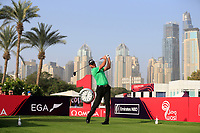 Robert Karlsson (SWE) on the 1st tee during Round 3 of the Omega Dubai Desert Classic, Emirates Golf Club, Dubai,  United Arab Emirates. 26/01/2019<br /> Picture: Golffile | Thos Caffrey<br /> <br /> <br /> All photo usage must carry mandatory copyright credit (© Golffile | Thos Caffrey)