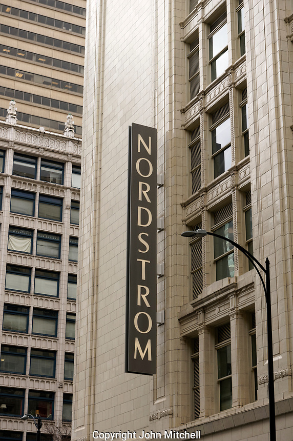 Nordstrom Downtown Seattle department store in Seattle, Washington, USA