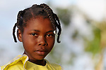 A girl in Despagne, an isolated village in southern Haiti where the Lutheran World Federation has been working with residents to improve their quality of life.