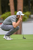 Tommy Fleetwood (ENG) lines up his putt on 16 during round 2 of the World Golf Championships, Mexico, Club De Golf Chapultepec, Mexico City, Mexico. 2/22/2019.<br /> Picture: Golffile | Ken Murray<br /> <br /> <br /> All photo usage must carry mandatory copyright credit (&copy; Golffile | Ken Murray)