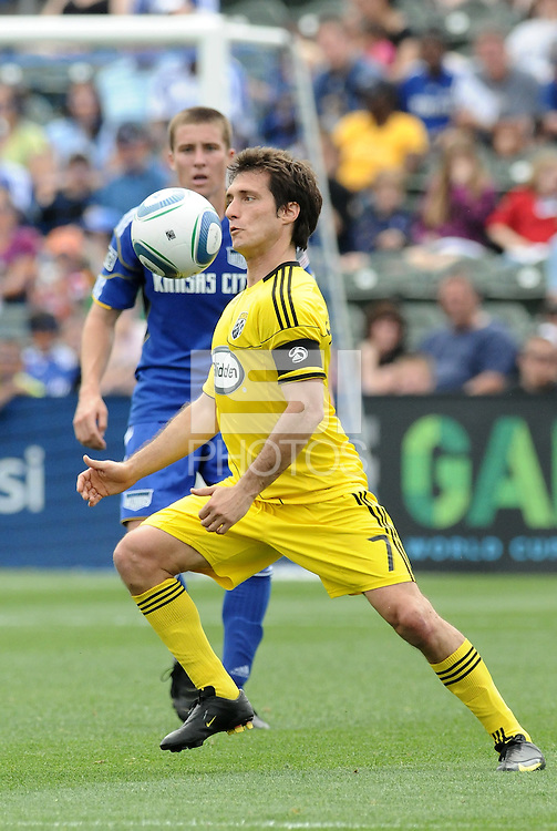 Guillermo Barros Schelotto.....Kansas City Wizards were defeated 1-0 by Columbus Crew at Community America Ballpark, Kansas City, Kansas.
