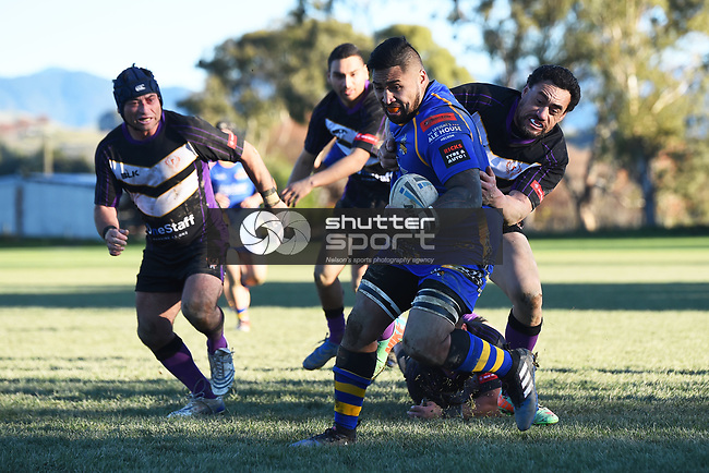 NELSON, NEW ZEALAND - JUNE 3: Rugby League - Wanderers Wolves v Victory Phoenix on June 3, 2017 in Brightwater, New Zealand. (Photo by: Chris Symes/Shuttersport Limited)