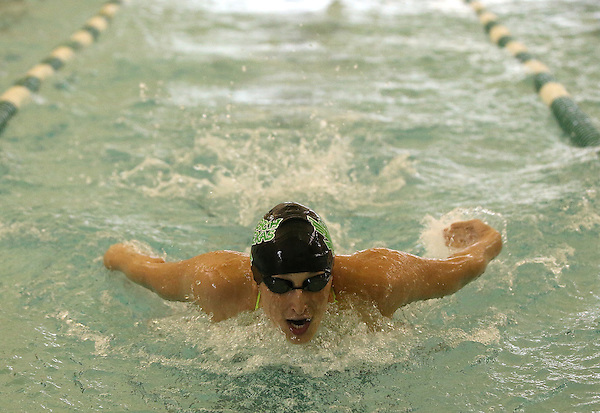 DENTON, TX - SEPTEMBER 20 : Sarida Muslow of the North Texas Mean Green Swimming & Diving Team competes 100 Yard Breaststroke against the TCU women's swim team at the Pohl Recreation Center in Denton on September 20, 2013 in Denton, Texas. Photo: Rick Yeatts