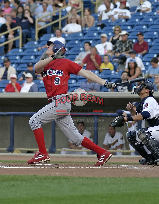 June 7, 2004:  Jake Blalock of the Lakewood Blueclaws, Low-A South Atlantic League affiliate of the Philadelphia Phillies, during a game at Classic Park in Eastlake, OH.  Photo by:  Mike Janes/Four Seam Images