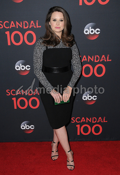 08 April 2017 - West Hollywood, California - Katie Lowes. ABC's 'Scandal' 100th Episode Celebration held at Fig & Olive in West Hollywood. Photo Credit: Birdie Thompson/AdMedia